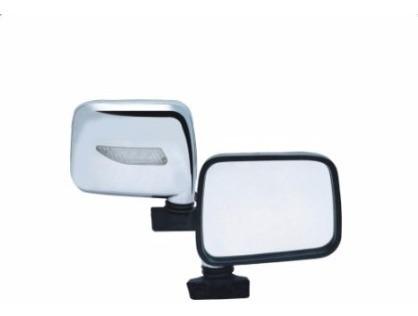 espejo retrovisor universal cromado tipo wagonner con luz