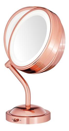 espejo rose gold con iluminación led be4srges