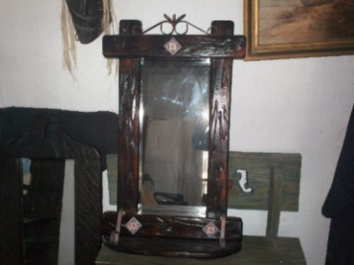 Imagenes de living comedor rusticos for Espejos rusticos baratos