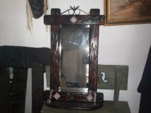 Espejo rustico para peluquer a dormitorio living for Espejos en living o comedor