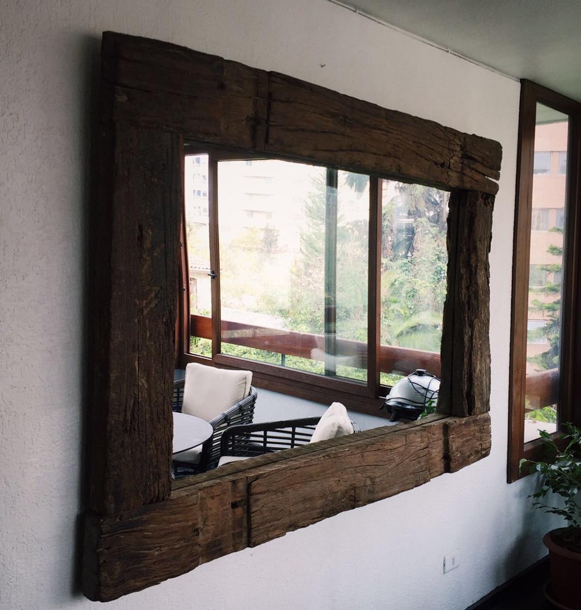 Espejo r sticos de durmientes roble 1 8 x 1 3 m 350 for Donde venden espejos