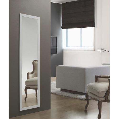 espejo simil madera con marco blanco o negro oferta
