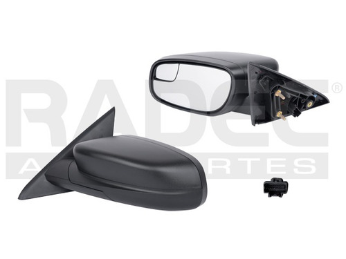 espejo  taurus 12-15 electrico negro c/punto ciego izq