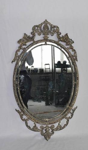espejo tipo restoration vintage desgastado estilo frances