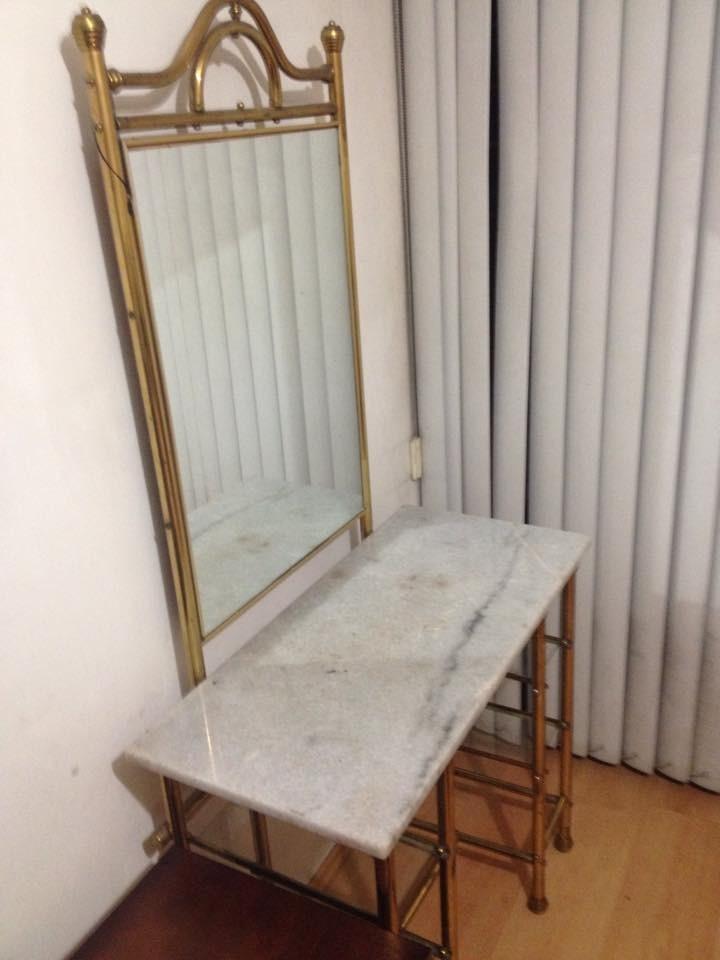 Espejo tocador con silla y plancha de marmol 4 for Sillas para tocador