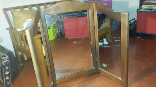 espejo triptico de algarrobo