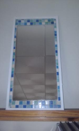espejo usado rectangular-venecitas