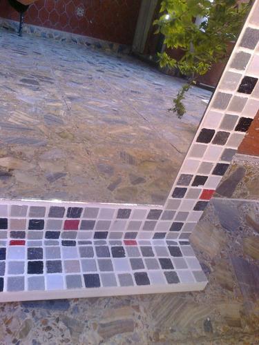 espejo venecitas 50x70+estante decotacion baño detalle rojos