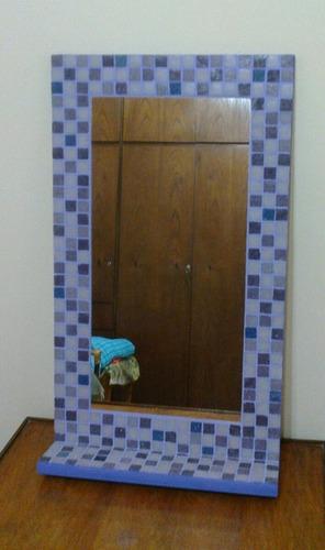 Espejo Venecitas 40x60 + Estante Decoracion Baño -  695,00 en ...