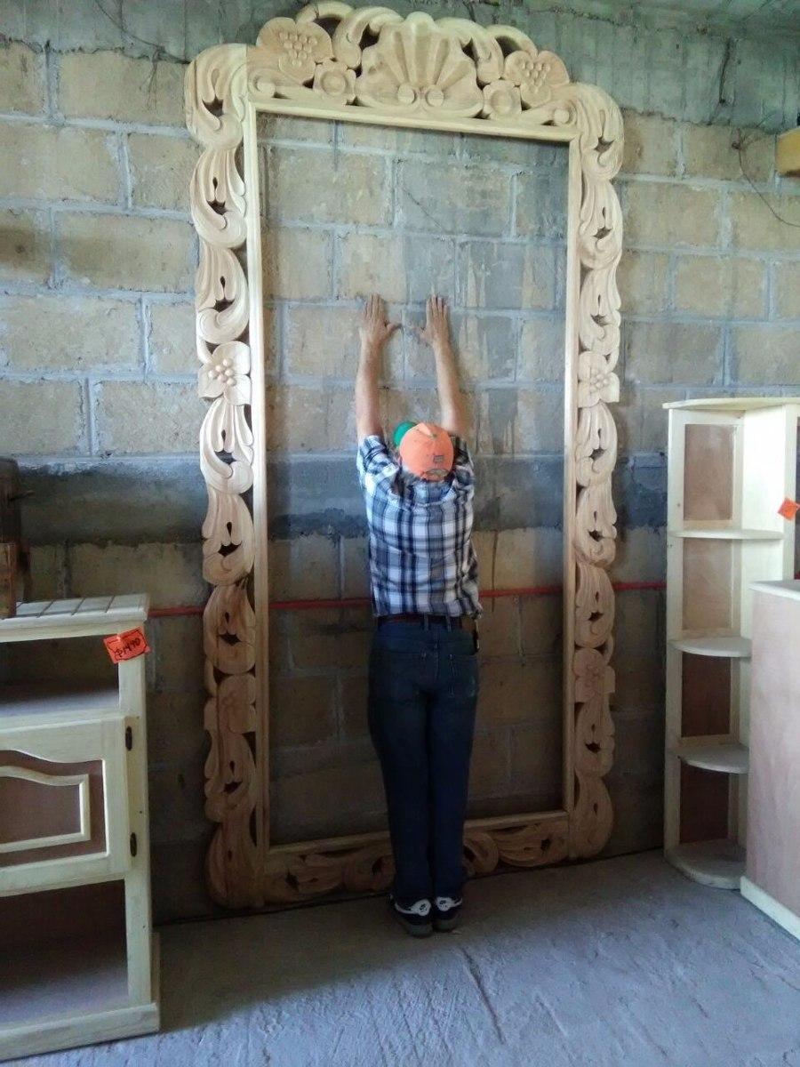 espejo vintage 3 metros tallado en madera acabado al gusto