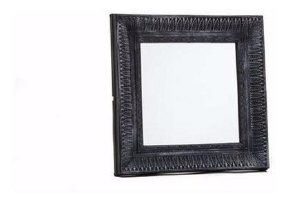 espejo vintage deco cuadrado negro  comedor habitacion baño