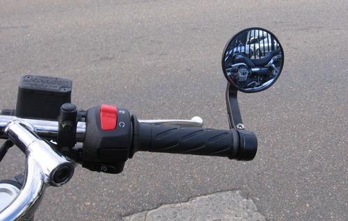 espejos cafe racer sportbike redondos aluminio el par bobber