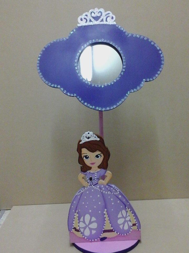 Espejos centros de mesa infantiles princesa sofia 130 for Espejos infantiles