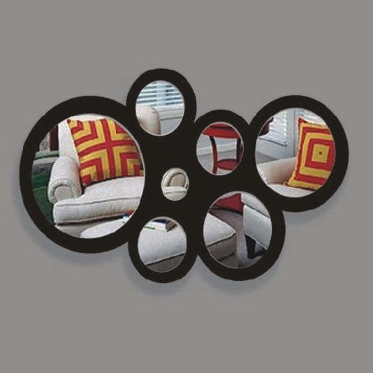 Espejos circulares con marco de acr lico detalle original for Espejos circulares decorativos