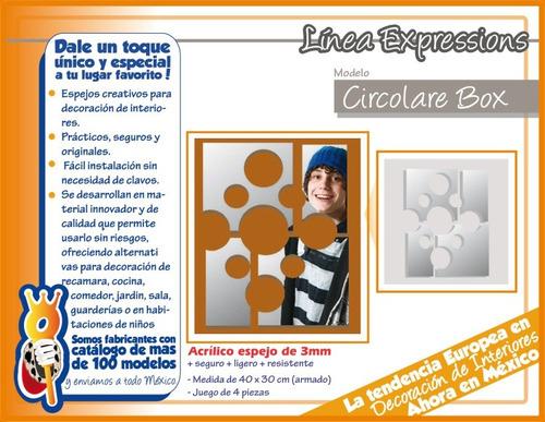 espejos circulares, diseño minimalista, circolare box