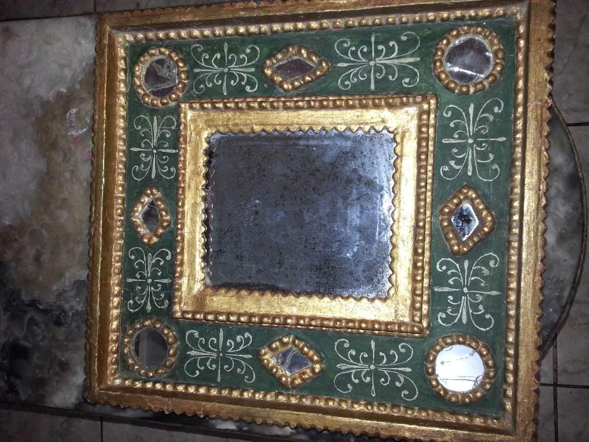 Espejos coloniales en pan de oro tallados s 200 00 en mercado libre - Espejos coloniales ...