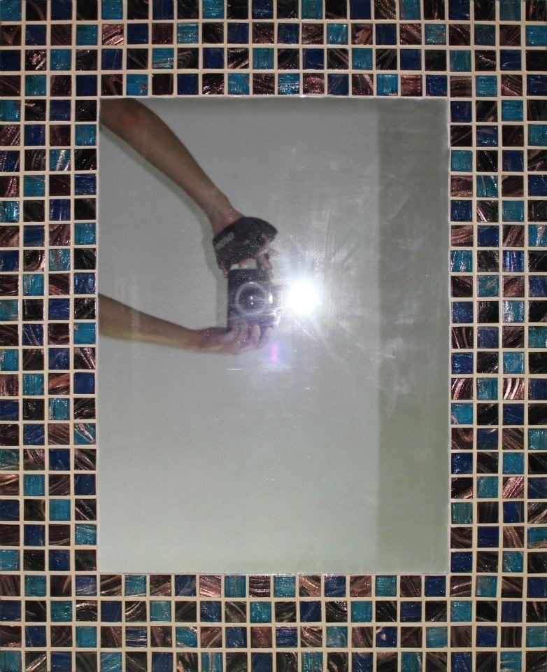 Espejos Con Cuadraditos De Vidrio De Colores. Mosaico - $ 20.000 en ...