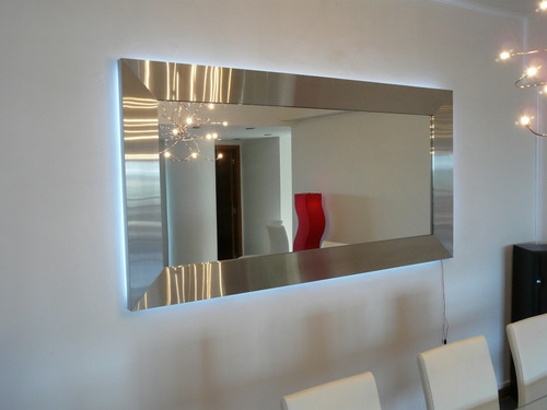 espejos con marco de acero inoxidable