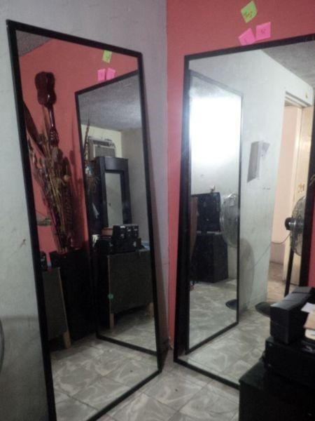 Espejos con marco de aluminio diferentes modelos y colores - Espejo marco negro ...