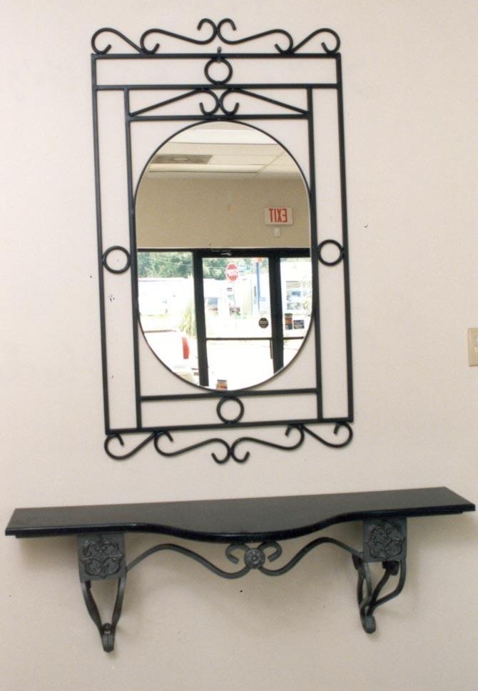 Espejos con marco de herreria diferentes modelos y colores for Modelos de espejos