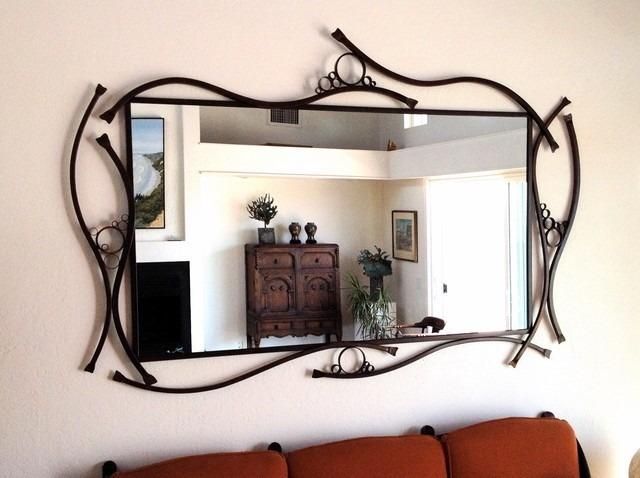 espejos con marco de herreria diferentes modelos y colores