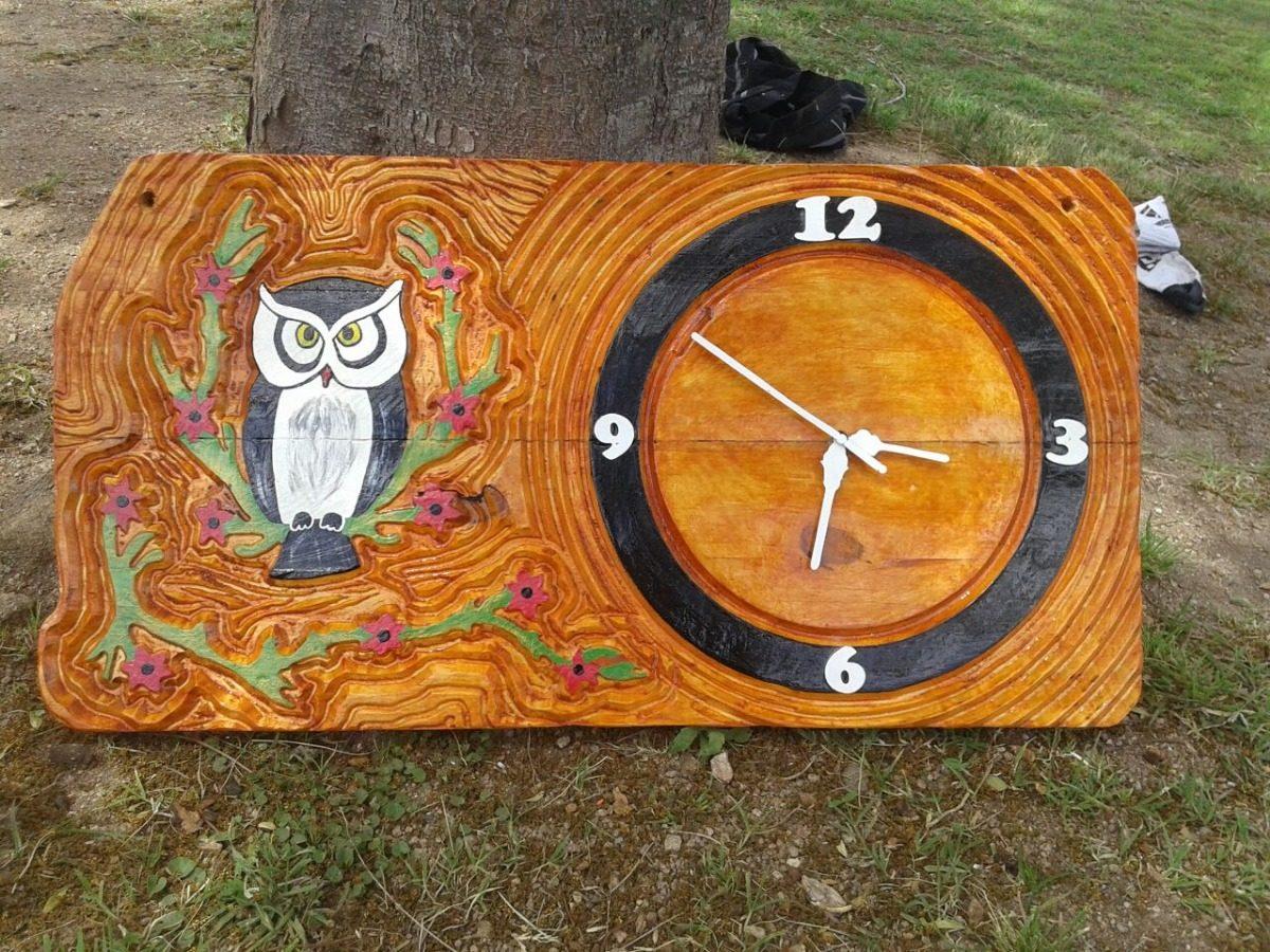 Espejos Con Marcos De Madera Personalizados Y Relojes - $ 100,00 en ...