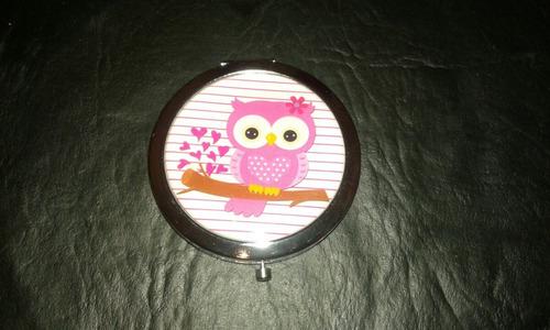espejos de cartera hermosos de  búho! genial para souvenirs!