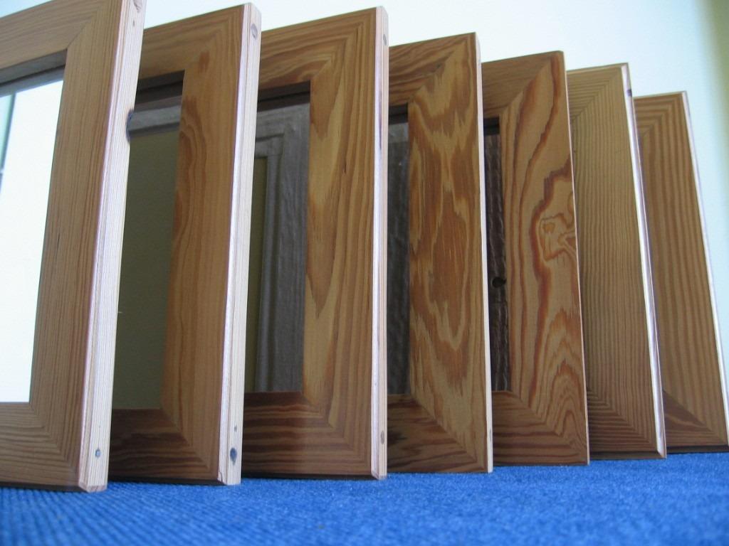 espejos de madera de pinotea marco artesanal 30000 en mercado libre - Espejos De Madera