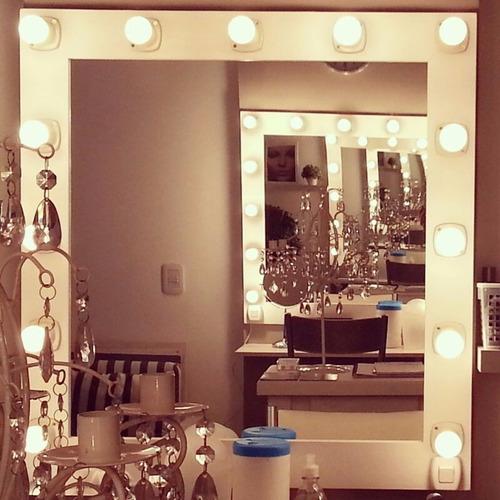 espejos de maquillaje 1 x 80 de 11 luces para colgar aptos led. 1°calidad camerinos,estilo hollywood, makeup todoespejos