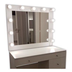 Espejos De Maquillaje 70 X 60  Con 7 Luces Led. Transportable O Colgar Camerinos,estilo Hollywood, Makeup Todoespejos