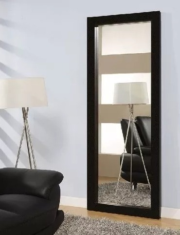 Espejos de pared largos con marcos de madera x 60cm for Conforama espejos de pared