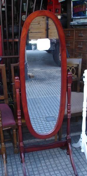 Espejos de pie rebatibles ovalados! nuevos! elegi tu color ...
