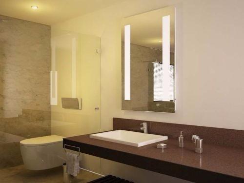 Espejos decorativos iluminaci n luz led integrada 100x80 for Espejos decorativos con luz