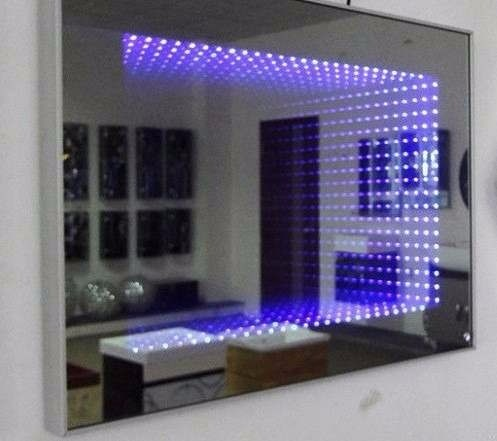 Espejos decorativos infinitos sala comedor ba os con led for Espejos de pared para salas