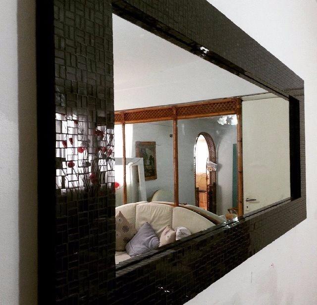 Espejos decorativos modernos 7 en mercado libre for Espejos decorativos blancos