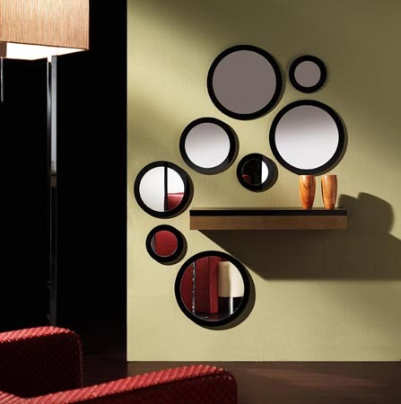 Espejos decorativoscirculares y con dise os pintados s for Disenos de espejos decorativos