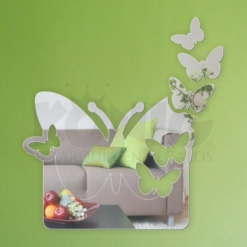 espejos diseño decorativo juvenil original unico mariposas