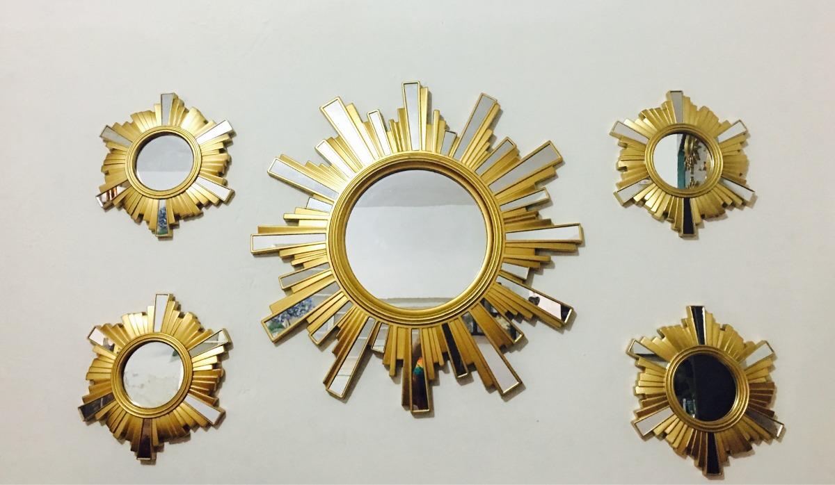 Espejos dorados en mercado libre for Espejos decorativos dorados