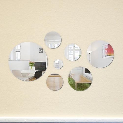espejos en circulos, decorativos creativos y originales