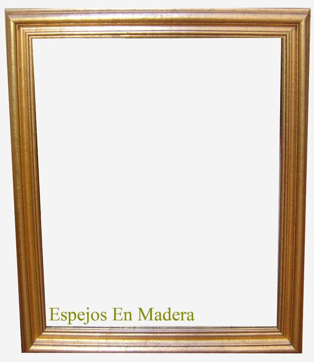 espejos en madera cm dorados y plateados x