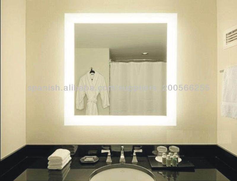espejos esmerilados con luces led unicos