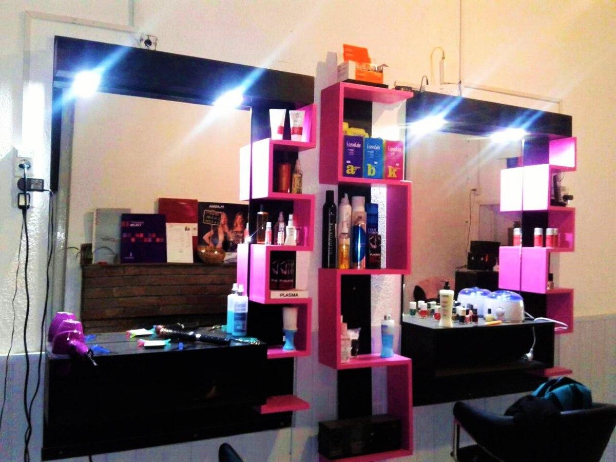 espejos moderno con luz peluquerias