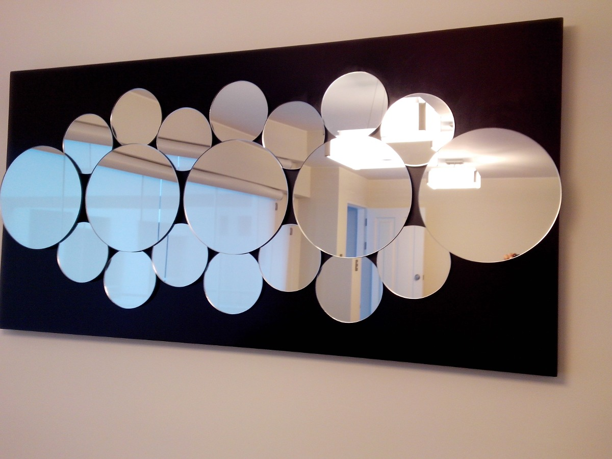 Espejos modernos 3d circulares s 690 00 en mercado libre for Espejos decorativos marco de madera