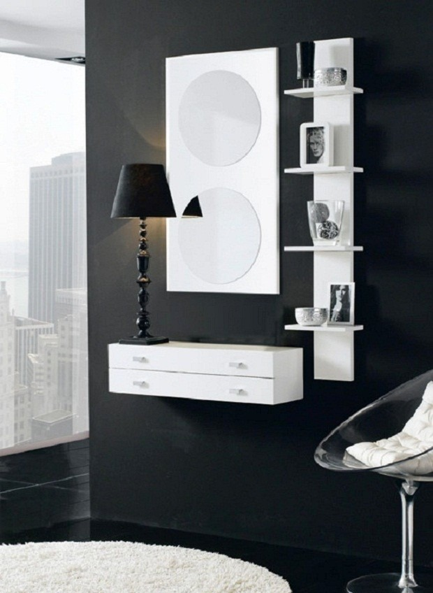 espejos modernos melamina muebles repisas