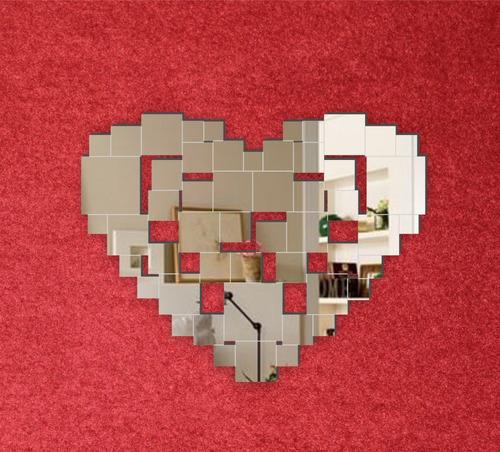 espejos modernos románticos, creativos, corazón cuadros