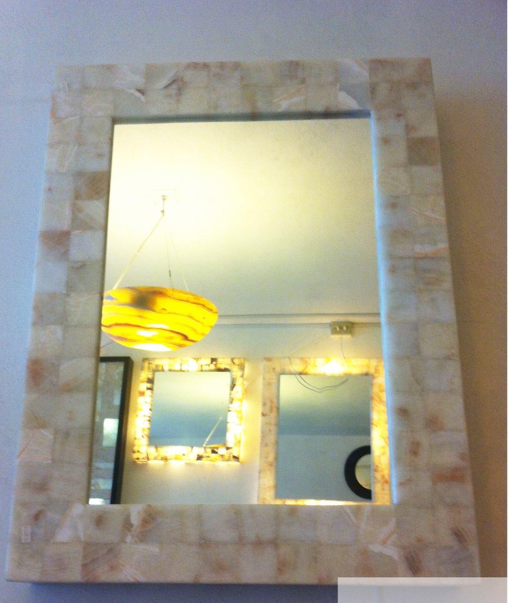 Espejos nix 60x60 45x65 y redondo 60cm onix cafe sin luz - Lamparas para espejos ...