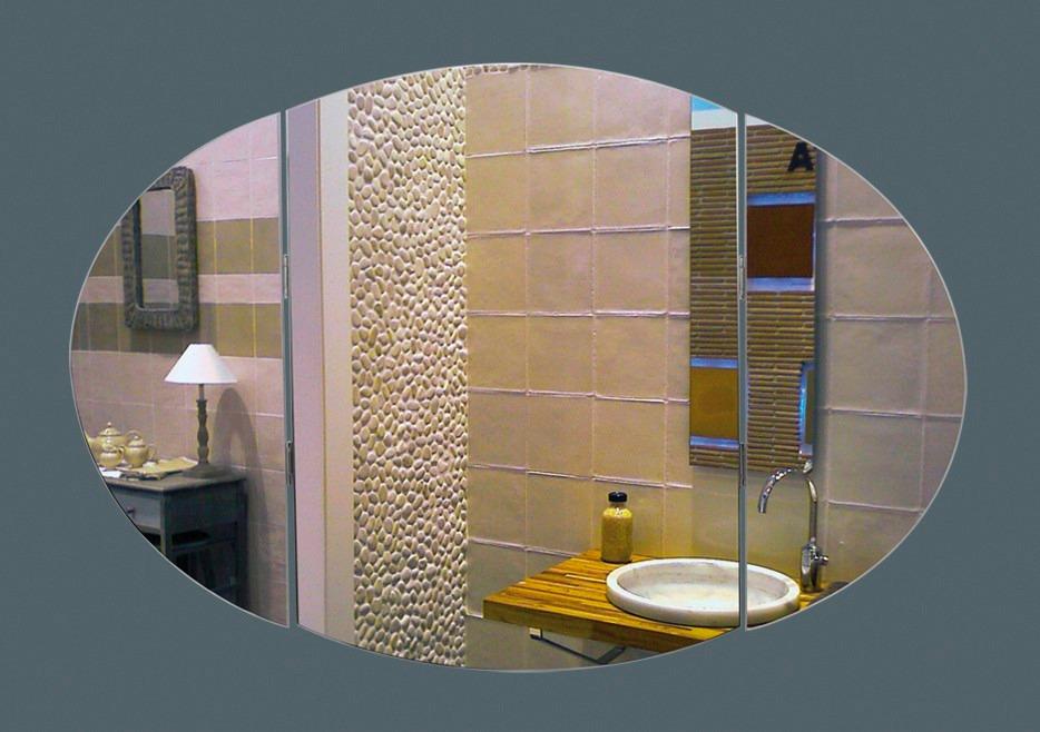 Espejos Para Baño Triptico Oval Medida 80x50 Cm - $ 2.675,00 en ...