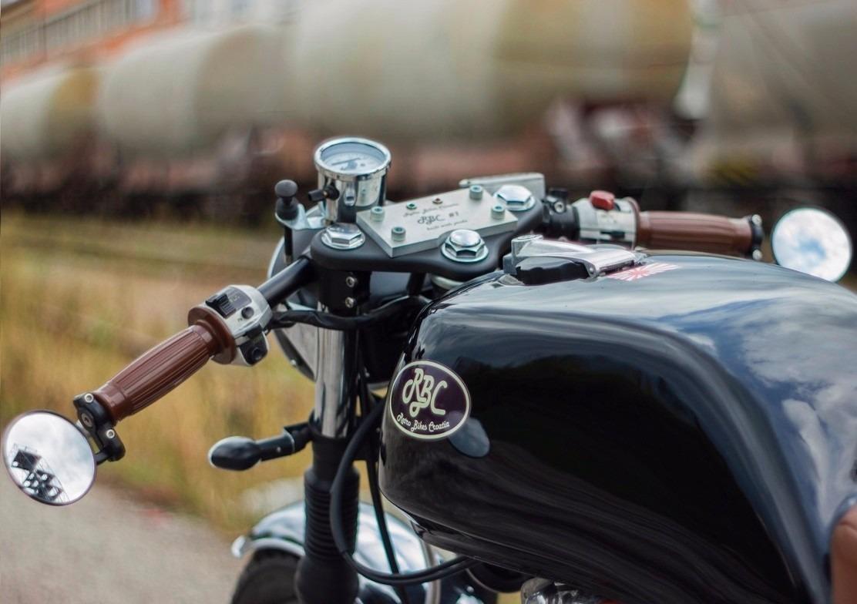 espejos para moto fin de manubrio tipo cafe racer custom
