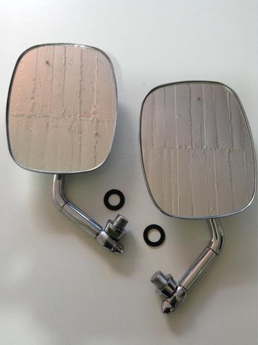 espejos para safari cromados largos derecho e izquierdo 1par
