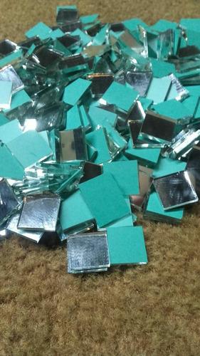 espejos por mayor 10 kilos de 2x2cm en 3mm espesor mos